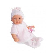 1109P Antonio Juan Кукла -младенец Лана в розовом плачет 27см.