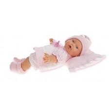 1111P Кукла Antonio Juans Ланита на розовой подушке, плачет 27 см