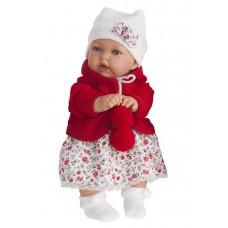 1220R Кукла Antonio Juans Азалия в красном со звуком 27см