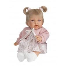 1227P Кукла Antonio Juan Элис в розовом со звуком 27см.