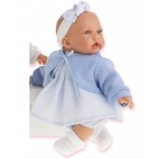 1228B Antonio Juan Кукла Петти в голубом плачет 27см.