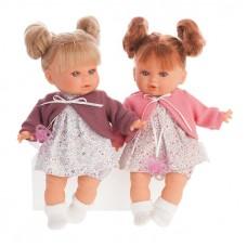 1333F Кукла Antonio Juan Монси в фиолетовом, плачет 30 см.