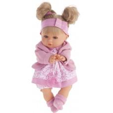 1337P Кукла Antonio Juan Кристи в розовом, умеет плакать, 30 см.