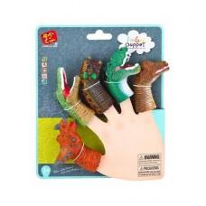Пальчиковый театр. Динозавры. 5 фигурок на блистере, ассортимет 2 вида, 12 шт. в дисплее