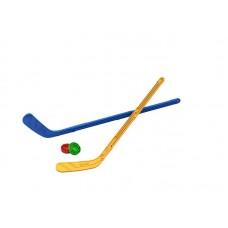 Набор Юный хоккеист (2 клюшки + 2 шайбы) 90х20х3,5 см. (Нордпласт, Н-268)