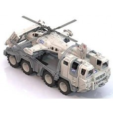 "Военный тягач ""Арктика"" с вертолетом 56х25х26,5 см."