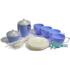 """Набор посуды """"Чайный сервиз """"Волшебная Хозяюшка"""" (24 предмета в сетке) 57x42x30 см"""