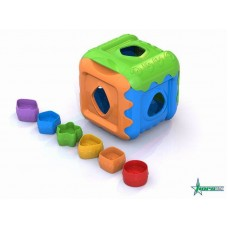 Кубик, дидактическая игрушка 13х13х13 см. (Нордпласт, Н-784)