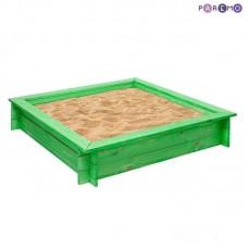 """Песочница деревянная """"Клио"""" (4 лавки, пропитка, подложка), цв. Зеленый"""