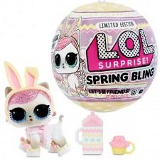 Кукла LOL Surprise Spring Bling Pet Питомец Пасхальный кролик Limited Edition, 7 сюрпризов  MGA Entertainment 570424