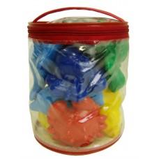 Набор игрушек для ванной в сумочке. (Малышки) 14х16х14 см.
