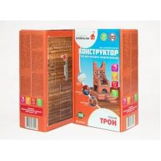 """Конструктор """"ТРОН"""" из настоящих кирпичиков (39 деталей) (ПК ВИСМА, 602пл)"""