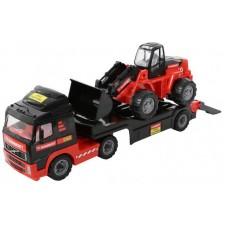 """Автомобиль трейлер + трактор-погрузчик 75,5х21,5х32 см. """"MAMMOET VOLVO"""""""