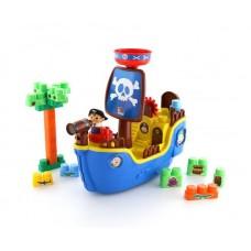 """Набор """"Пиратский корабль"""" + конструктор (30 элементов) 59х16,5х39,5 см. (в коробке) (Полесье, П-62246)"""