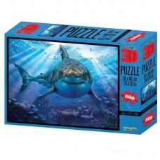 Пазл 3D 500 Большая белая акула