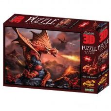 Пазл 3D 500 Огненный дракон