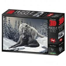Пазл 3D 500 Волки