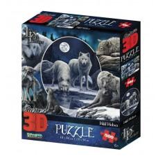 """Пазл 3D 500 Коллаж """"Волки»"""
