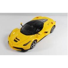 Машина р/у 1:14 Ferrari LaFerrari, со световыми эффектами, открываются двери, 34х15х8см, цвет жёлтый 40MHZ