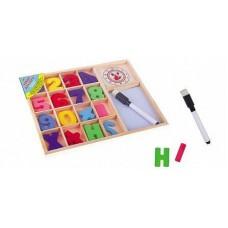 """Игрушка деревянная. Набор для счёта """"Считай и пиши"""" с маркером"""