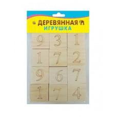 """Кубики деревянные 12шт """"Цифры и знаки"""" (Рыжий Кот, ИД-4698)"""