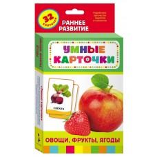 Книга. Развивающие карточки. Овощи, фрукты, ягоды (0+)