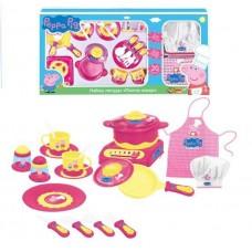 PEPPA PIG. Набор посуды ПЕППА ПОВАР 20 предметов,пласт.,ТМ Peppa
