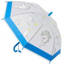 """Зонт """"Акула"""", 49см, прозрачный, матовый (Shantou City Daxiang Plastic Toy Products Co., Ltd, 42462)"""
