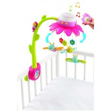 Cotoons Мобиль музыкальный на кроватку Цветок, розовый