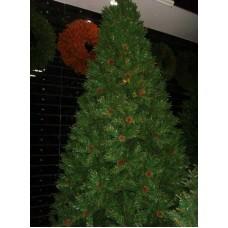 Ёлка новогодняя зеленая 180 см, 780 веток, 25 шишек (SNOWMEN, JY18121)