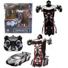 1toy Робот на р/у 2,4GHz, трансформирующийся в спортивный автомобиль, серебристый (Solmar Pte Ltd, Т10856)