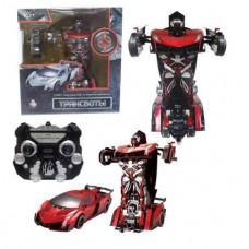 1toy Робот на р/у 2,4GHz, трансформирующийся в спортивный автомобиль, красный (Solmar Pte Ltd, Т10857)