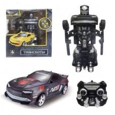 1toy Робот на р/у 2,4GHz, трансформирующийся в маслкар, чёрный (Solmar Pte Ltd, Т10863)