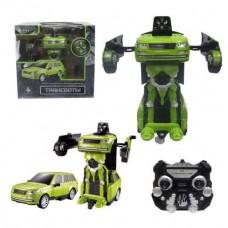 1toy Робот на р/у 2,4GHz, трансформирующийся в джип, зелёный (Solmar Pte Ltd, Т10866)