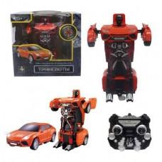 1toy Робот на р/у 2,4GHz, трансформирующийся в легковую машину, красный (Solmar Pte Ltd, Т10867)