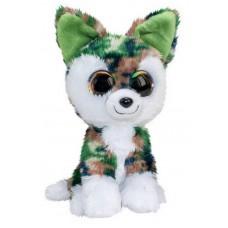 Волк Woody, серо-зелёный, 15 см.