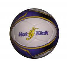 Мяч футбольный (бело-синий), размер 5, диаметр 22 см, длина окружности 68—70 см, материал: ПВХ (TATA PAK, 1014Bпц)