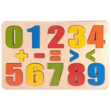 """Доска развивающая. """"Разноцветные цифры"""" 16 деталей (ТД Бэмби, 7917)"""