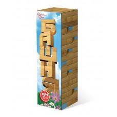 Башня 54 детали в картонной коробке (дерево) (ТД Бэмби, ДНИ119)