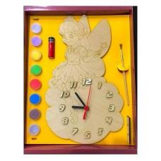 """Часы с циферблатом под роспись """"Фея"""" с красками"""