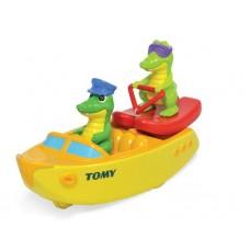 """Игрушка для ванной """"Крокодил на лодке"""""""