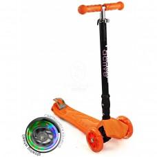 Самокат трехколесный SKL-07CL со складывающейся ручкой Maxi Flash Plus Оранжевый