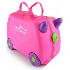 Чемодан на колесиках Trixie, розовый Trunki (0061-GB01-P1)