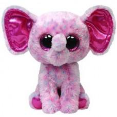 Мягкая игрушка Слоненок (розовый) Ellie Beanie Boo's, 25см (TY, 34108-no)