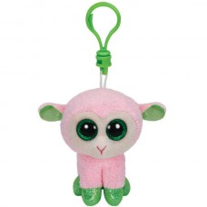 Beanie Boo's Брелок Овечка (розовая с зелеными копытцами), 12 см (TY, 36516)