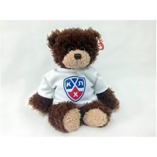 Мягкая игрушка Медвежонок-хоккеист в футболке КХЛ, 25см