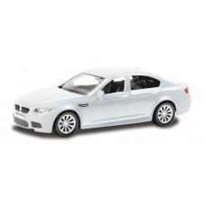 Машина металлическая RMZ City 1:43 BMW M5 без механизмов  (синий/белый), 10,10х3,83х3,01 см (UNI-FORTUNE Toys Industrial Ltd., 444003)