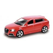 Машина металлическая RMZ City 1:43 Audi RS3 Sportback без механизмов  (красный/черный), 10,00х4,17х3,26 см (UNI-FORTUNE Toys Industrial Ltd., 444011)