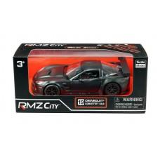 Машина металлическая RMZ City 1:32 Chevrolet Corvette C6.R,инерционная, серый матовый цвет, 16.5 x 7.5 x 7см (UNI-FORTUNE Toys Industrial Ltd., 554003M)