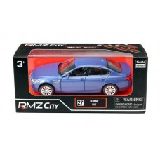 Машина металлическая RMZ City 1:32 BMW M5, инерционная, голубой матовый цвет, 16.5 x 7.5 x 7 см (UNI-FORTUNE Toys Industrial Ltd., 554004M(A))